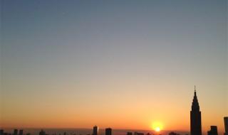 新宿御苑の夕日